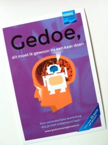 Uitnodiging 2 juni: Lezing/workshop Gedoemanagement